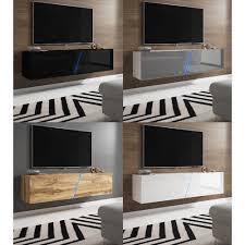 space tv lowboard in grau hochglanz lack und weiß hängend