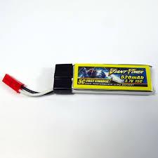 3 7V 1S 520mAh 15C LiPo Battery For E flite Blade 120SR MQX Nine