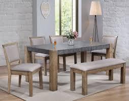Acme Paulina Ii Dark Gray And Rustic Oak Dining Room Set Coffee Table Gumtree End Tables