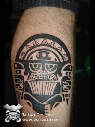 Tribal Priest Tattoo AZTEC TATTOOS Aztec Mayan Inca Designs Instant Download