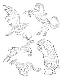 Keeping To Local Imagery Bronze Wool Brave Celtic Pictish Animal Designs By Michel
