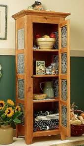 A Woodworking Plan and Instructions to Build a Pie Safe Cabinet