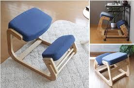 Ergonomic Office Kneeling Chair For Computer Comfort by Ergonomically Designed Kneeling Chair Wood Modern Office Furniture
