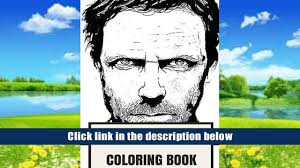 Audiobook Hugh Laurie Adult Coloring Book Dr House Showman And Brilliant Actor Comedian Artist