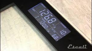 Eatsmart Precision Digital Bathroom Scale Manual by How To Setup U0026 Use Escali Track U0026 Target Bath Scale Ustt200