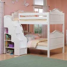 Girls Twin over Twin Bunk Beds with Stairs Attractive Twin over