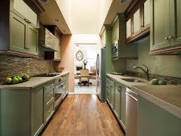 Small Narrow Kitchen Ideas by Modern Small And Narrow Kitchen Design With Black Cabinet White