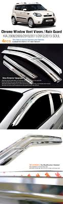 Chrome Window Vent Visors Rain Guards Sun Shield K-700 For KIA 2008 ... How To Install Rain Guards Inchannel And Stickon Weathertech Side Window Deflectors In Stock Avs Color Match Low Profile Oem Style Visors Cc Car Worx Visor For 20151617 Toyota Camry Wv Amazoncom Black Horse 140660 Smoke Guard 4 Pack Automotive Lund Intertional Products Ventvisors And 2014 Jeep Patriot Cars Sun Wind Deflector For Subaru Outback Tapeon Outsidemount Shades Front Door Best Of Where To Find Vent 2015 2016 2017 Set Of 4pcs 1418 Silverado Sierra Crew Cab Shade