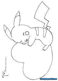 Pokemon Coloring Pages Pikachu Ex