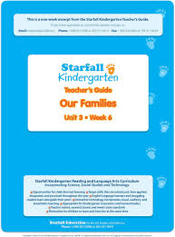 100 Starfall 3 This Is A Oneweek Excerpt From The Kindergarten