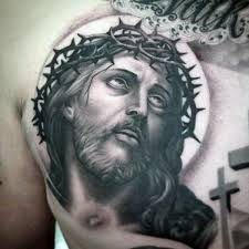Unique Jesus Christ Tattoo Designs 56 On Marriage Tattoos With