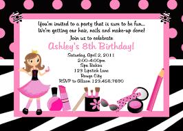 Printable Birthday Invitations Spa Party