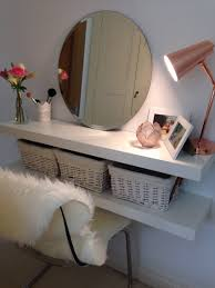 Bathroom Vanity With Built In Makeup Area by Easy Diy Makeup Table When Space Is Limited Or You Are Using What