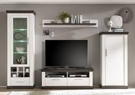 dreams4home wohnwand pennie i set glasvitrine highboard tv lowboard wandregal medienwand phono möbel aufbewahrung landhaus wohnzimmer