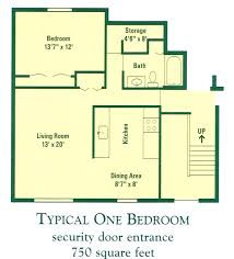 Efficiency Floor Plans Colors Modern Apartment Floor Plan With Dimensions Two Bedroom Efficiency