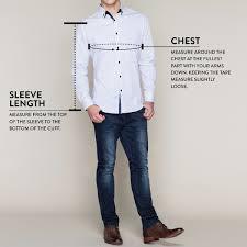 size guide to tarocash men u0027s clothing