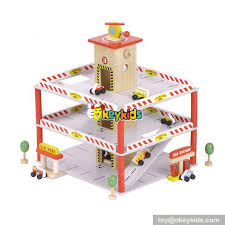 best design funny parking toys wooden toy garage for toddlers