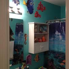 Kids bathroom under the sea shower curtain aqua paint finding