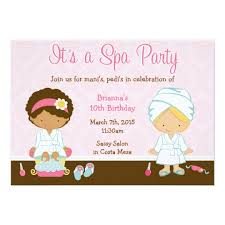 Kids Spa Party Card