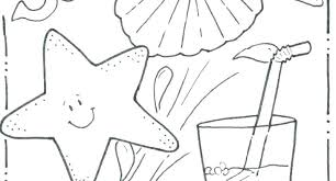 Beach Coloring Book Summer Pictures Printable