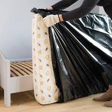 housse de protection opaque pour matelas 1 personne 230x100x22cm