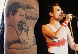 Bad Celebrity Inspired Tattoos Freddie Mercury