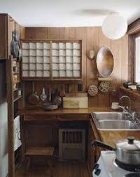 Kitchen Japanese Style Rustic Design Ideas With Double Undermount Sink White Ceiling And Globe Lighting