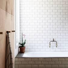 white gloss bevelled subway ceramic 150x75 melbourne stock