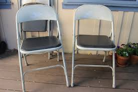 diy metal folding chair re do simply mrs edwards