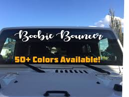 100 Custom Stickers For Trucks Boobie Bouncer Decal Funny Jeep Decals Car Truck Window Etsy