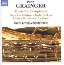 GRAINGER Music For Saxophones