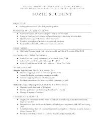 Sample Resume First Job Part Time Samples For