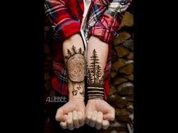 Insane Dark Forest Forearm Tattoo Designs
