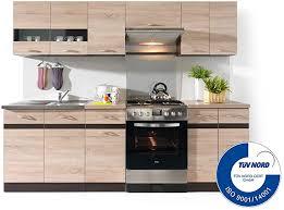 küche 240cm in eiche fiwodo erweiterbar günstig schnell einbauküche junona line set 240