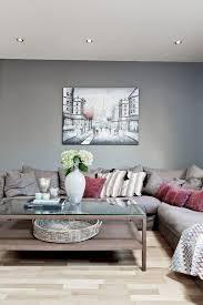 wohnzimmer modern gestalten graue wandfarbe taupe ecksofa