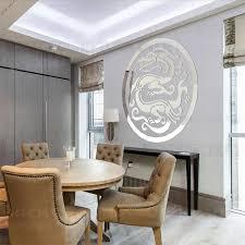 kreative traditionellen chinesischen drachen spiegel wand aufkleber für wohnzimmer esszimmer dekoration r217