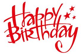 Happy Birthday Letters Star Vector