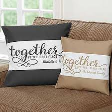 Personalized Family Throw Pillow To her Is The Best Place To Be