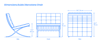 100 Barcelona Pavilion Elevation Chair Dimensions Drawings DimensionsGuide