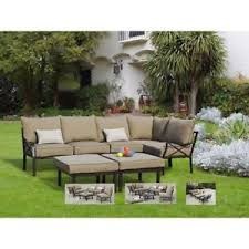 Ebay Patio Furniture Sectional by Sandhill 7 Piece Outdoor Sofa Sectional Set Seats 5 Ebay