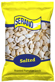 Roasted Salted Shelled Pumpkin Seeds by Serano Roasted Salted Pumpkin Seeds