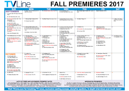 Syfy Channel 31 Days Of Halloween Schedule by 2017 Fall Schedule From The Tv Megasite