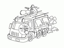 Free Fire Truck Coloring Pages To Print New Funny Cartoon Fire Truck ...