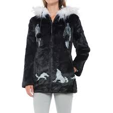 Black Mountain Faux-Fur Hooded Jacket (For Women) - Save 59% Shop Womens Outerwear Blains Farm Fleet Tommy Hilfiger Quilted Collarless Barn Jacket In Blue Lyst Sts Ranchwear Brazos Softshell Boot Jackets Vests Clothing Women Levis Great Britain Uk Plus Size Coats For Lane Bryant Western Coats Womens Fringe Jackets Women Woolrich Dorrington Men Betabrand Nautica Diamondquilted At Amazon Isaac Mizrahi Live Lamb Leather Mixed Page Rust Tweed Ma1016 Western Montanaco Nrsworldcom