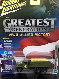 Johnny Lightning 1/64 - 1/87 WW2 GMC CCKW 2.5 Ton 6x6 Truck
