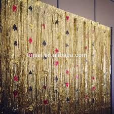 interesting gold metallic curtains and tinsel gold metallic foil