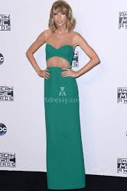 taylor swift simple illusion cutout long green prom dress american