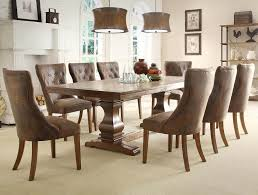 Elegant Rustic Kitchen Design With 9 Pieces Marie Louise Dining Room Set Taupe Pier One