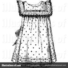 Royalty Free RF Dress Clipart Illustration 1121441 By Prawny Vintage