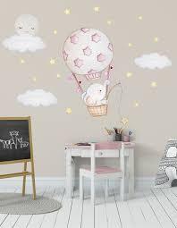 elefant wandsticker heißluftballon wandtattoo ballon sticker